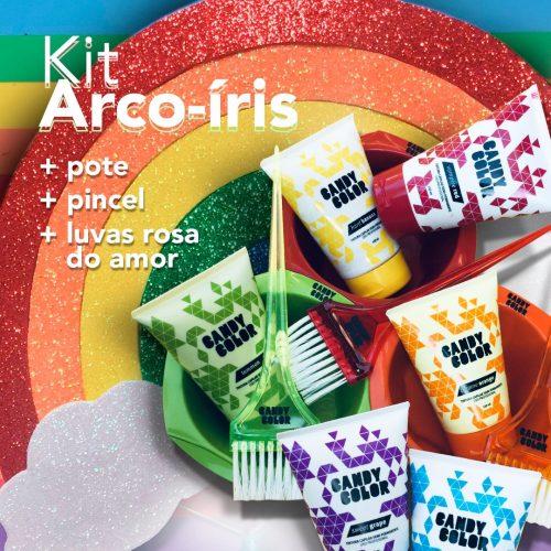 Tonalizantes para cabelo colorido arco-iris